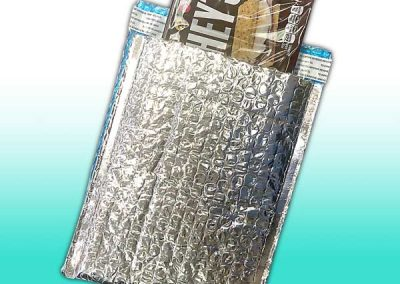 Metallic Foil Bubble Mailer with Chocolate Bar