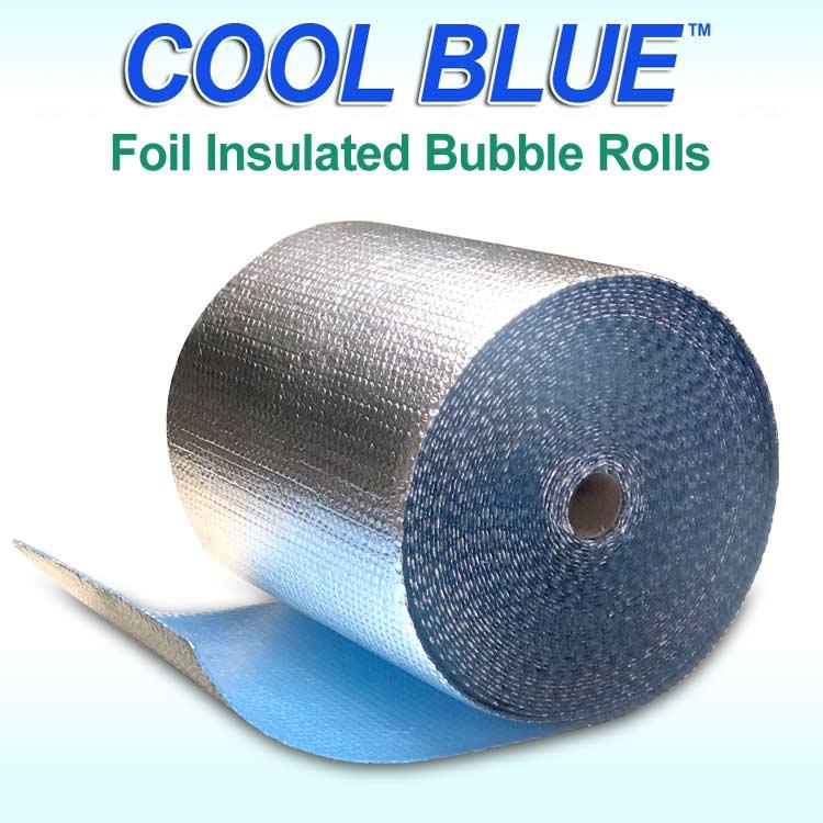 Cool Blue Foil Bubble Rolls