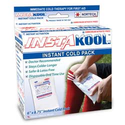 """InstaKool Instant Ice Pack, Size: 6"""" x 8.75"""" - LARGE SIZE (RETAIL BOX)"""