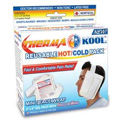 """Therma-Kool Reusable Hot Cold Pack with Freedom Wrap, 4"""" x 6"""""""