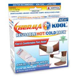 """Therma-Kool Reusable Hot Cold Pack with Freedom Wrap, 4"""" x 9"""""""