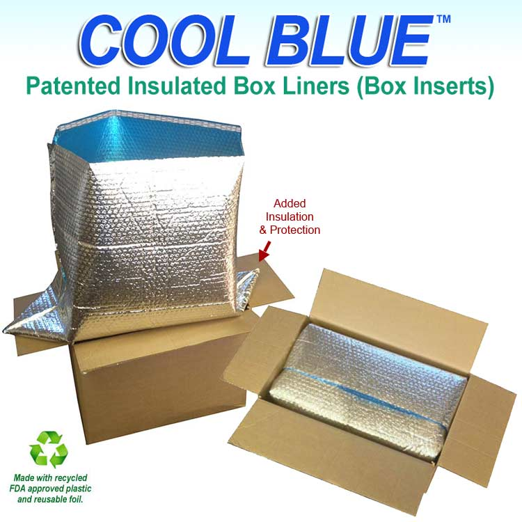 Cool Blue Foil Insulated Box Liners