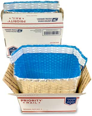 Insulated Foil Box Liners for USPS Boxes